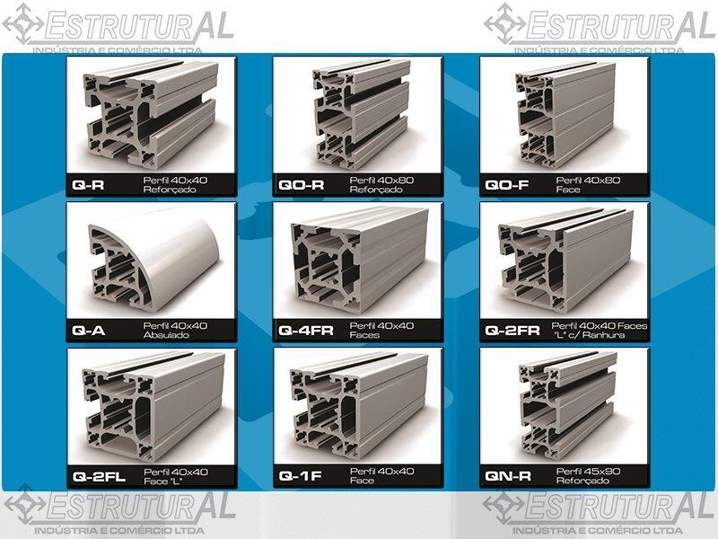 Perfil de alumínio estrutural