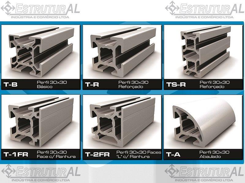 Perfil de alumínio estrutural modular