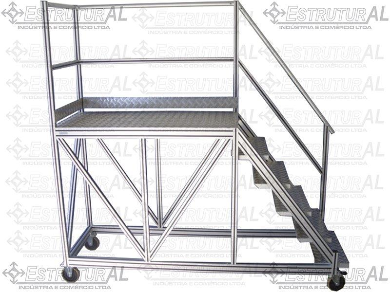 Plataforma em alumínio