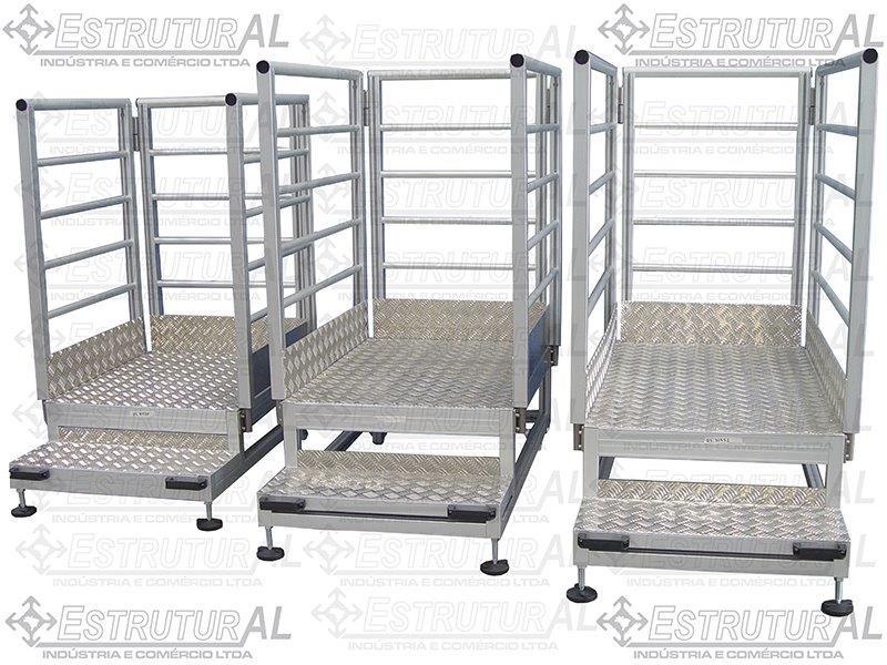 Plataformas em perfil de alumínio