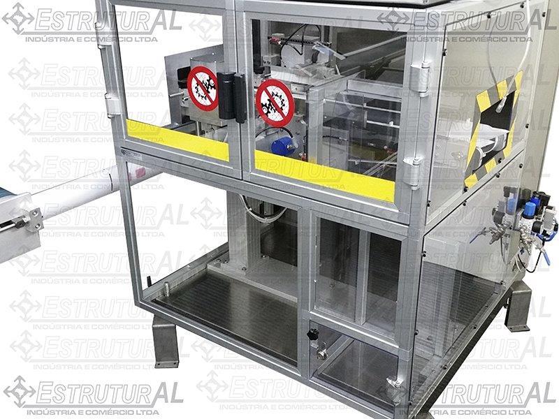 Proteção para máquinas em alumínio