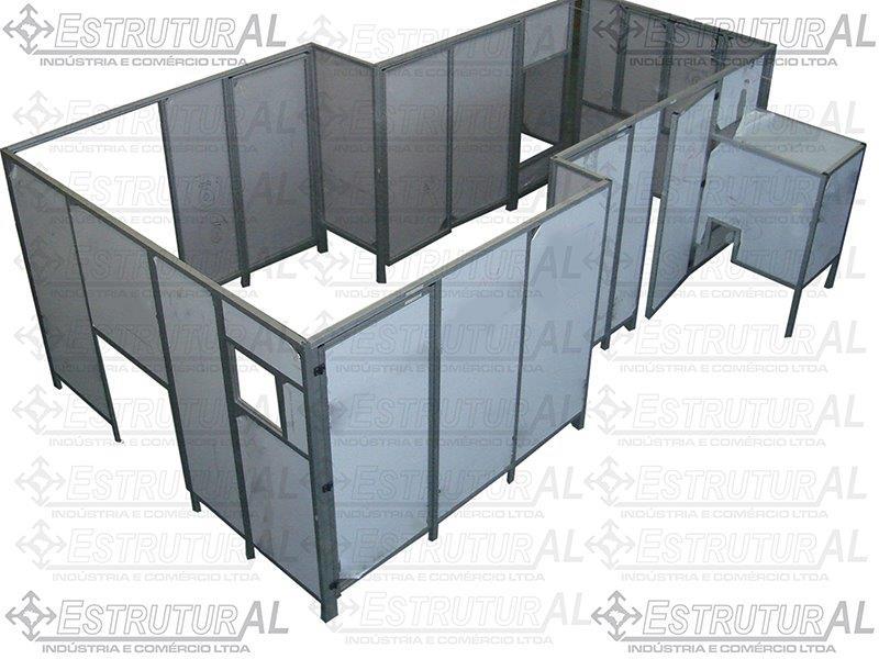 Proteção em perfil de alumínio