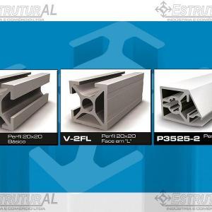 Perfil de alumínio estrutural sp